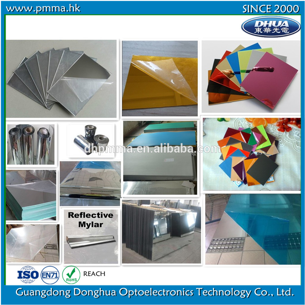 flexible shatterproof plastic mirror sheets wholesale