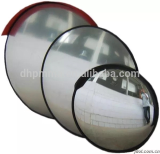 Shatterproof acrylic traffic safety convex mirror