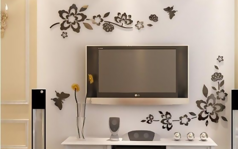 TV Background Acrylic Mirror wall Sticker sheet