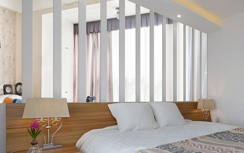 Bed wall decoration acrylic mirror sheet