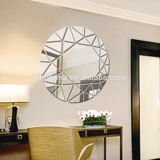 Modern Style Round Reflective Acrylic Mirror Wall Sticker with Self Adhesive for Decoration