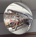 Roadway traffic safety acrylic convex mirror indoor outdoor use