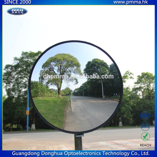 roadway safety convex mirror