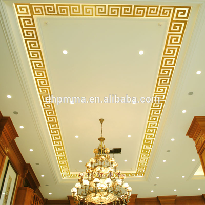 Reflective Acrylic Mirror Wall Decals for Skirting Line And Ceiling Decoration