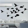 Home Decoration Interior Decorating Flying Swan Acrylic Wall Mirror Sticker