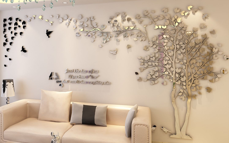 Acrylic mirror, making a stereo wall sticker is super beautiful