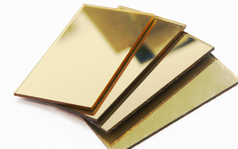 Gold Color Acrylic Mirror
